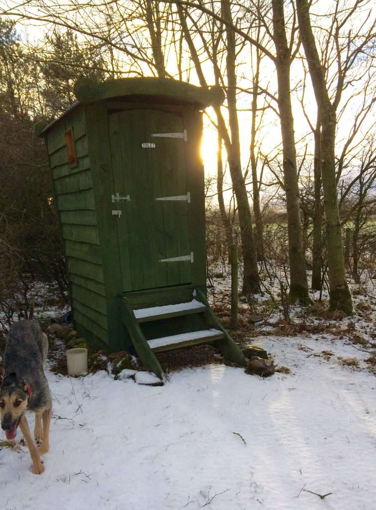 Winter shot of our loo with a view