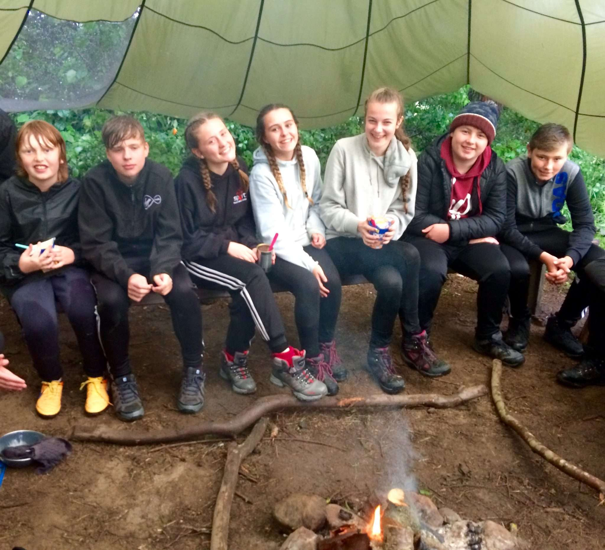 DofE expedition camp gateshead